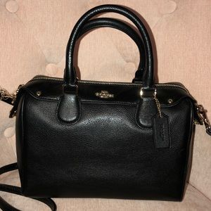 Coach Pebbled Leather Mini Bennett Satchel NWT